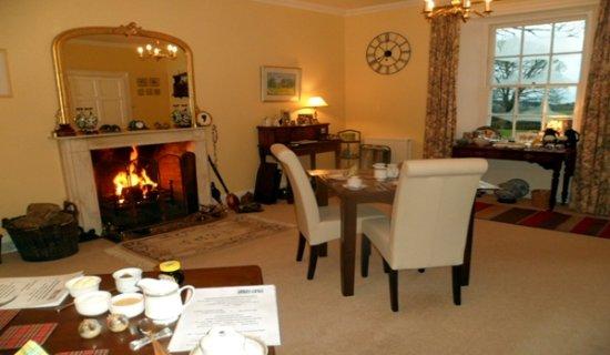 Auchencairn, UK: Dining room - winter view