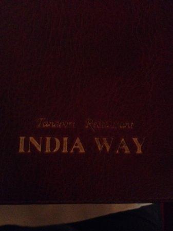 India Way Tandoori Restaurant: menu kaart