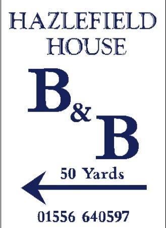 Auchencairn, UK: B&B sign on roadside