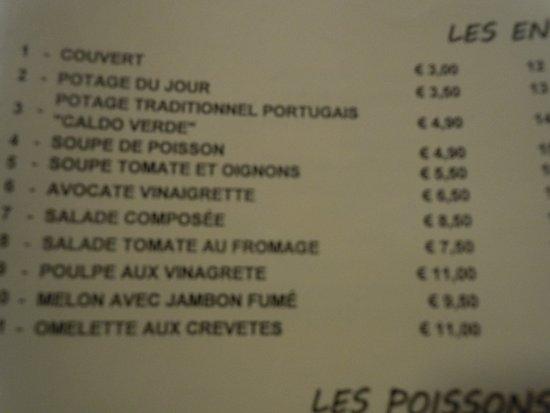 O Regional Restaurante: la carte