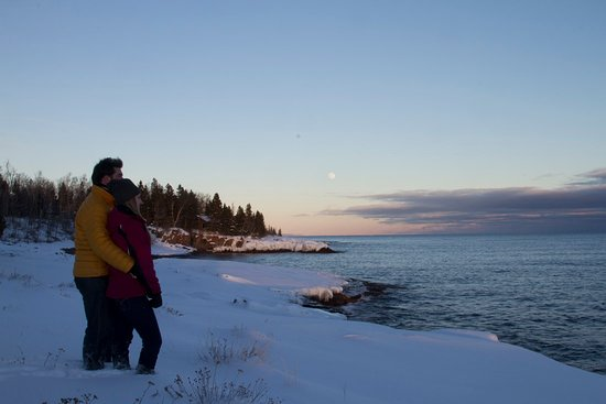 Tofte, Μινεσότα: Surfside on Lake Superior Shoreline in Winter