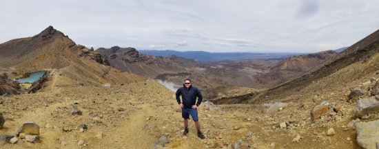 Turangi, Nueva Zelanda: Mordor Lookout with Emeral Lakes!