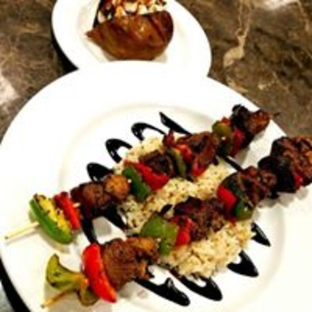 Cisco, TX: Here is a Steak Kabob we had for a special this week!