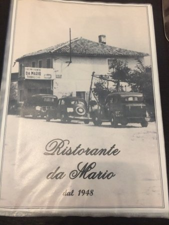 Tessera, Italy: Cover of menu--not a picture of the restaurant as it looks today