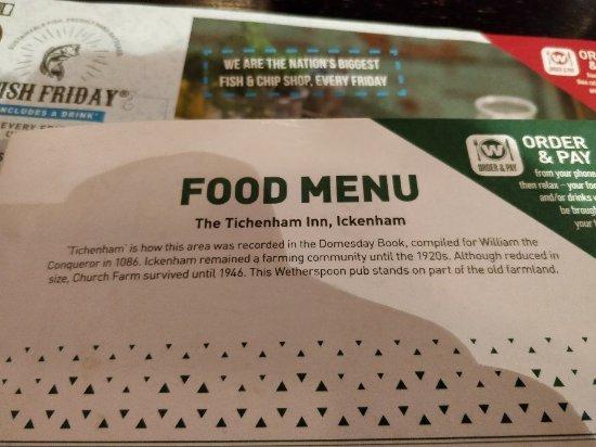 Ickenham, UK: The Tichenham Inn