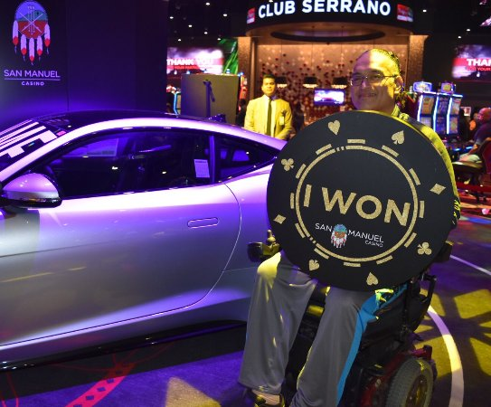 Highland, CA: Club Serrano member Raymond took home a 2018 Jaguar F-Type at San Manuel Casino on Jan. 4, 2018!