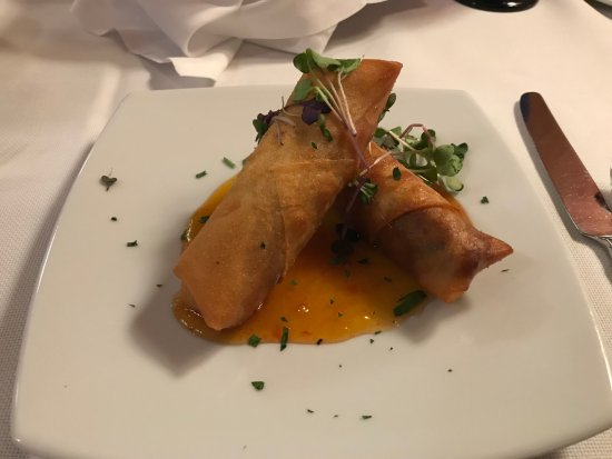 Hamiltons' at First & Main: duck confit spring rolls