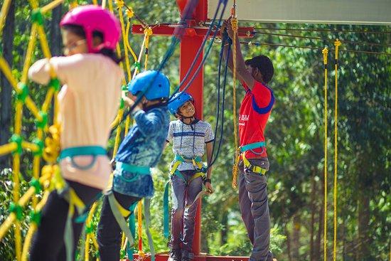 Basic rope course - Spider web @ POPPY HILLS YERCAUD