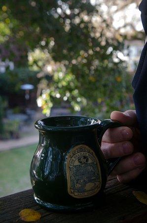 Beazley House: Coffee on our balcony