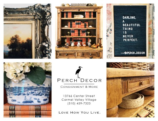 Carmel Valley, CA: Perch Decor has ethically sourced furniture, art, rugs, lamps, gifts and more