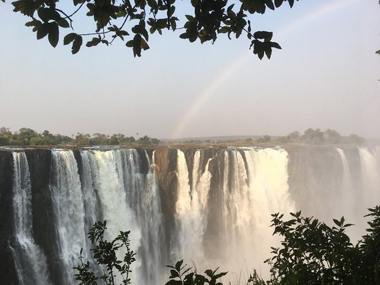 The Victoria Falls Hotel : View of falls from walk from Hotel