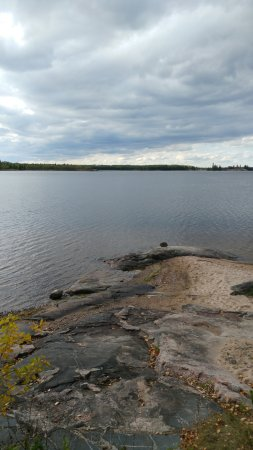 Whiteshell Provincial Park, Canadá: View from the shore of our Cabin # 5