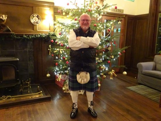 Crianlarich, UK: Me dressed for Hogmanay Ceilidh