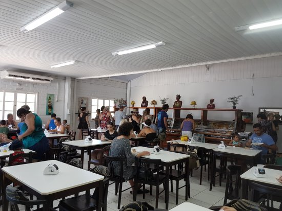 Rio Tavares, SC: Vista interna do estabelecimento