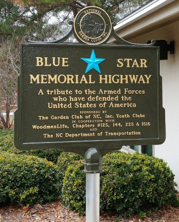 North Carolina Welcome Center: This is the Blue Star Memorial Highway sign for North Carolina.
