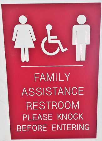Rowland, NC: This welcome center has a family assistance restroom.
