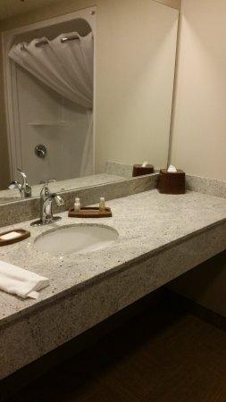 Canad Inns Destination Centre Health Sciences Centre: Spacious bathroom counter