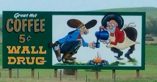 Wall, Dakota del Sur: sign
