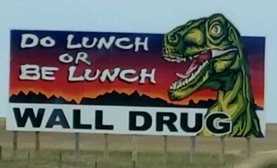 Wall, South Dakota: sign
