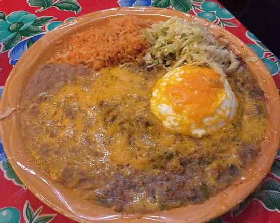 Mesilla, NM: Sour Cream Beef Enchilada