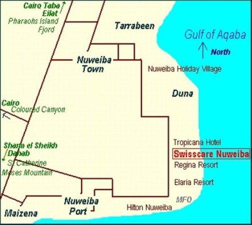 فندق سويسكار نويبع: Map
