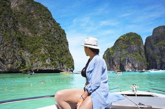 スピードボートでクラビとピピ諸島