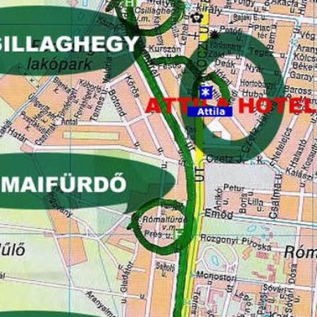 Attila Hotel & Pension: Map