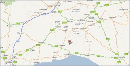 Hawkchurch, UK: Map