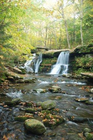 Catskill Mountains: Diamond Notch Falls in September by Albany Wayfarer