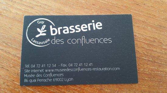 La Brasserie Des Confluences Carte De Visite