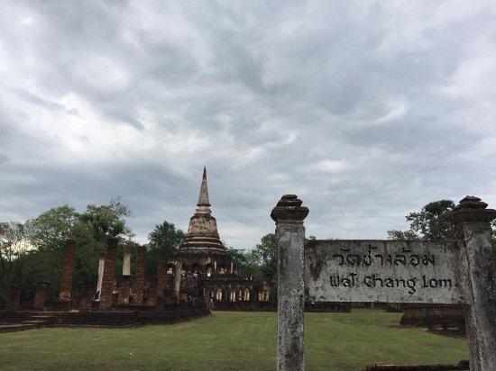 Wat Chang Lom: ป้ายวัดมีความสวยงามมาก