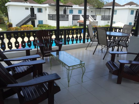 Rockley Golf Club: private patio overlooking pool!