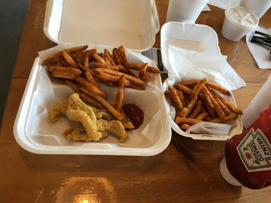 Vidalia, LA: Kids fish with Cajun fries and a side of fries