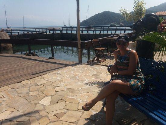 AquárioPousada &Hostel: Vista ao tomar cafe da manhã