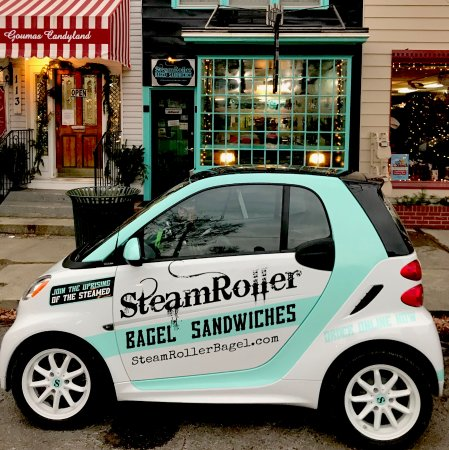 Granville, OH: Our electric delivery car! We can bring it to you hot and fresh.