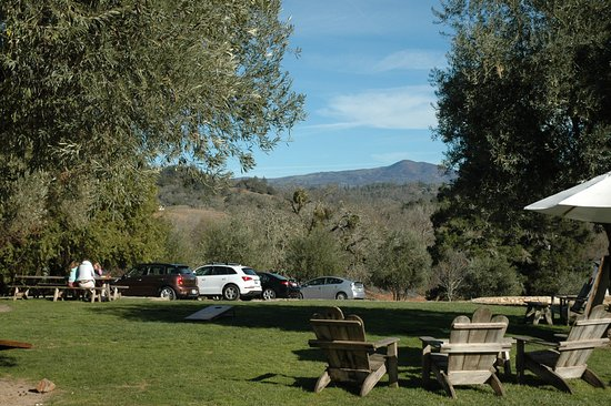 Bella Vineyards and Wine Caves: View from the picnic area at the winery.