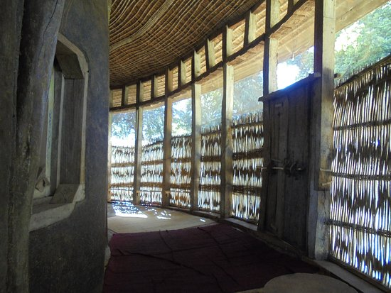 Amhara Region, Etiopia: Ura Kidane Mehret,outer wall, Lake Tana, Ethiopia