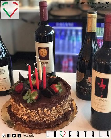 Loveataly: chocolate cake and italian wine