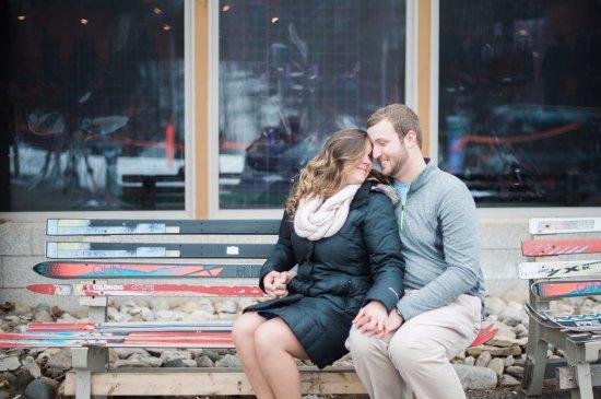 Bellaire, MI: Infront of Ski Shop at Cedar