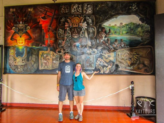 kaytours the first of the mayan mural stunning colour