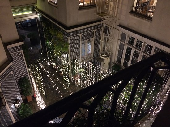 Hotel de l'Abbaye Saint-Germain: view from our room