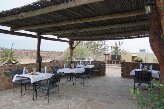 Usakos, Namibia: Terrasse des Restaurants
