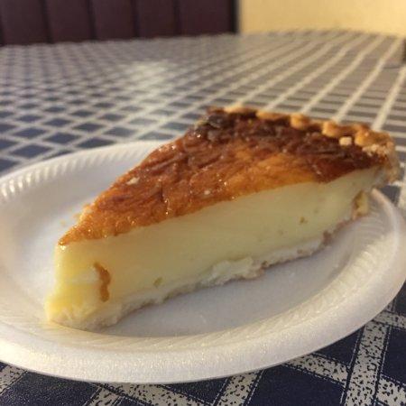 Jeffersonville, IN: Egg custard pie.