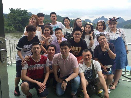 Guangxi Zhuang, Cina: Group of student travelers