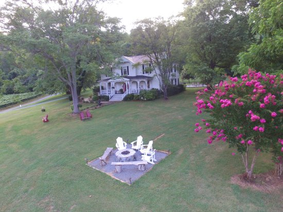 Lovingston, VA: Our new gas fire pit is the perfect way to end your wonderful day!