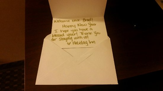 Holiday Inn Yakima: Welcoming Me Back! Who Does that these days?