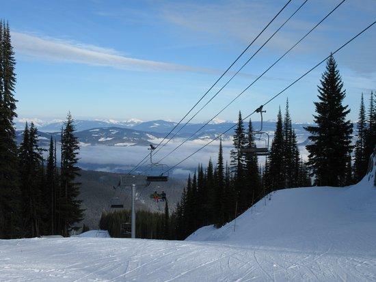 Silver Star, Canada: The view down Powder Gulch