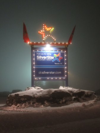 The main SIlver Star sign on a foggy evening