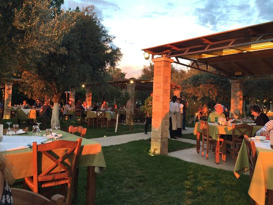 Hotel Europa: Dining at sunset