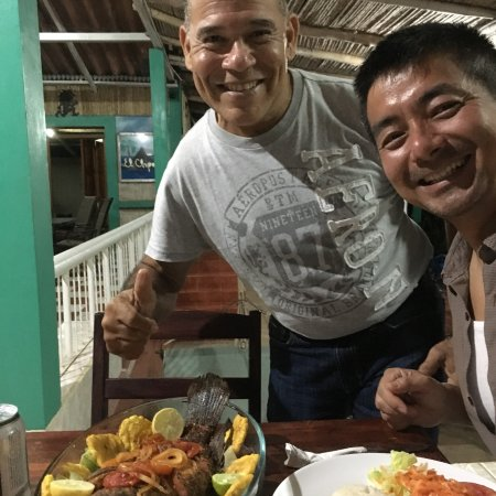 Altagracia, Nicarágua: A wonderful fish dinner - with the owner